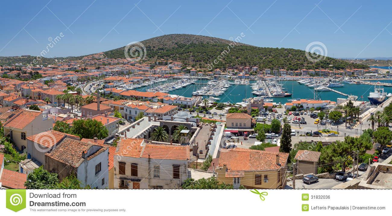 Panoramic View Of Cesme, Turkey Royalty Free Stock Image.