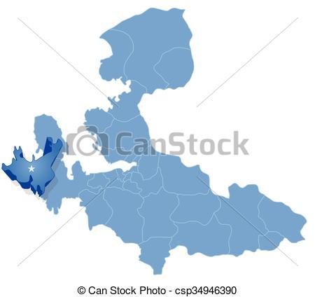 EPS Vectors of Map of Izmir.