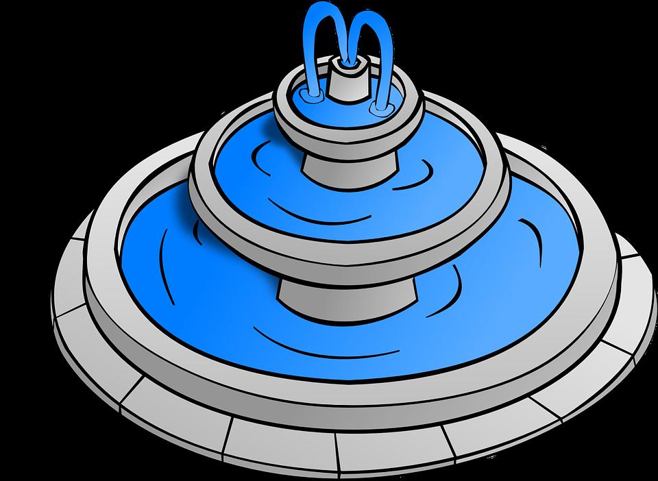 Ücretsiz vektör çizim: Su, Çeşme, Oyun, Oynama, Rolü.