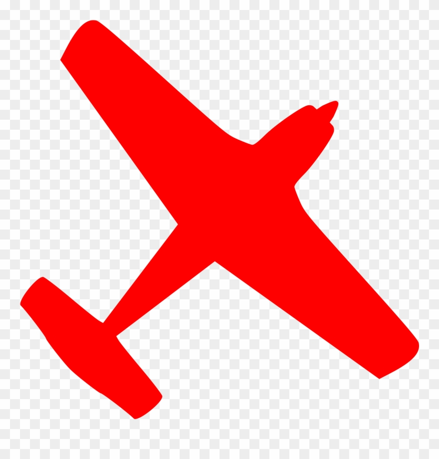 Jet Clipart Red Plane.