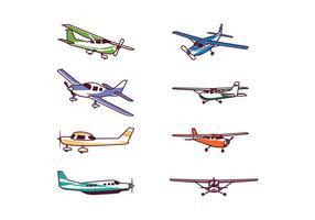 Cessna 172 Free Vector Art.