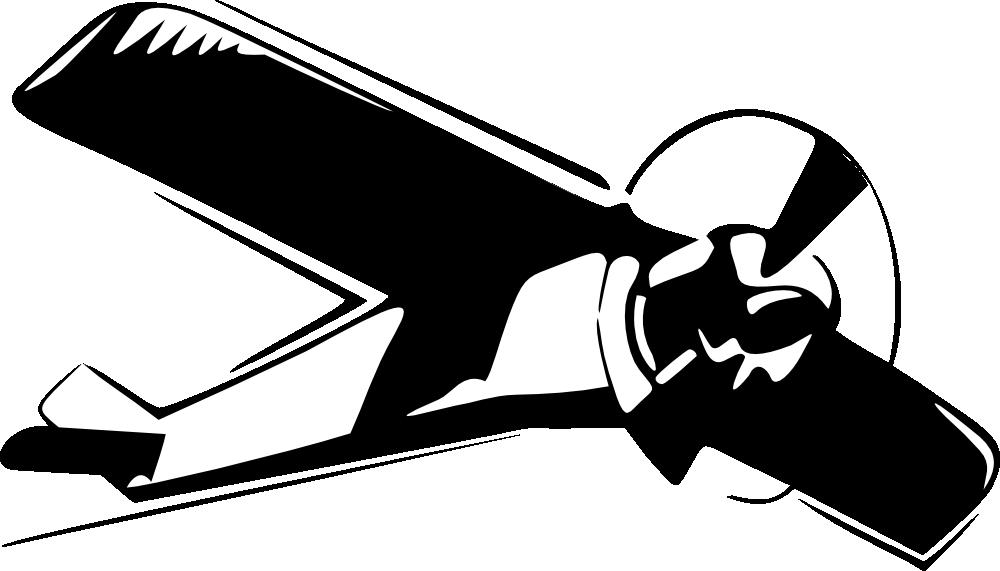 Cessna clipart silhouette.
