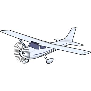 Cessna 172 clipart.