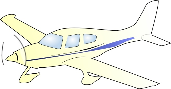 Cessna Plane clip art Free vector in Open office drawing svg.