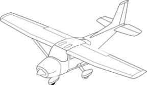 Cessna Twin Engine Plane Clipart.