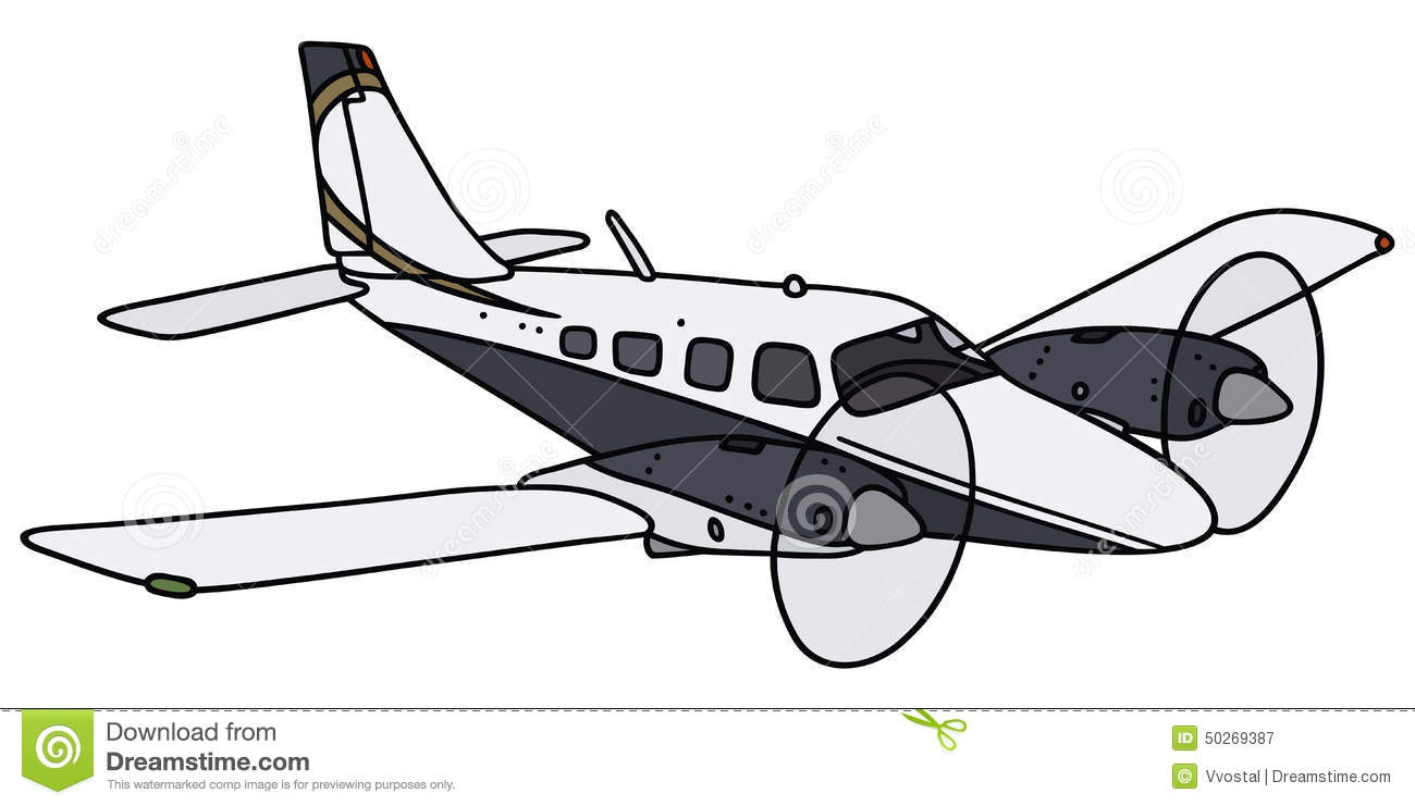 Clipart Black And White Double Engine Plane.