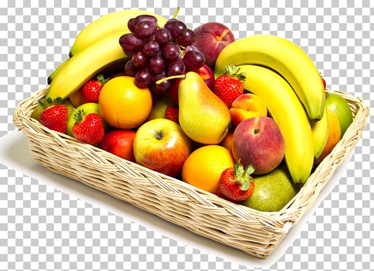Cestas de regalo de alimentos fruta uva, ensalada de frutas.