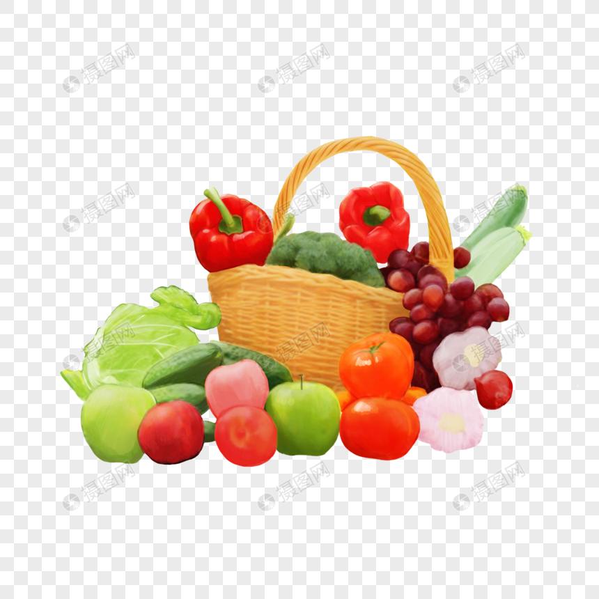 cesta de frutas y verduras Imagen Descargar_PRF Gráficos.