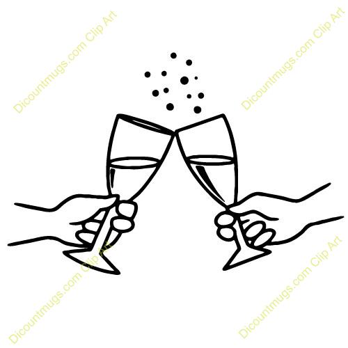Clip Art Wedding Toast Clipart.