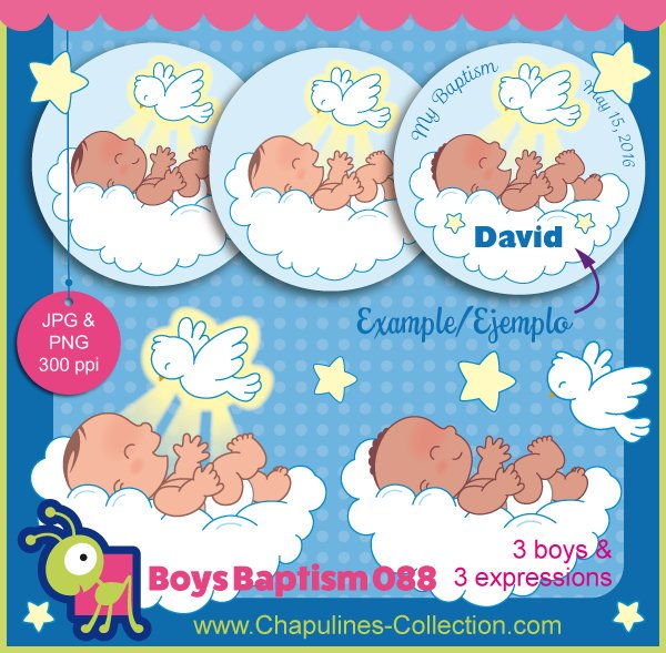"""ChapulinesCollection on Twitter: """"New!! #clipart #baptism #bautizo."""