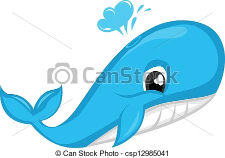 EPS Vector of Blue Whale csp12985041.