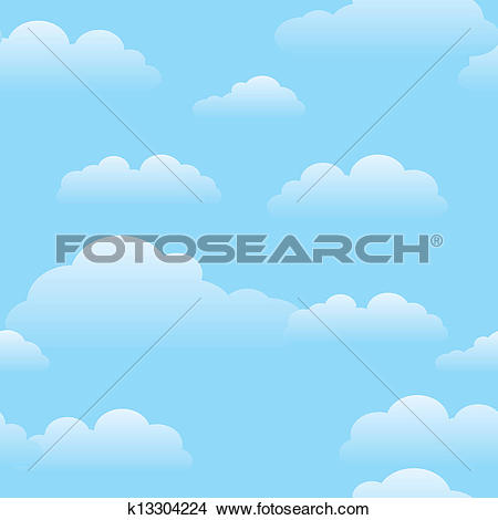 Blue sky cloud clipart