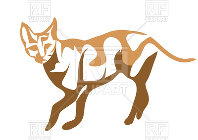 Ceylon cat abstract silhouette Vector Image #106572.