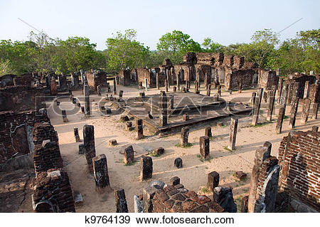 Stock Photograph of ancient temple in Polonnaruwa.