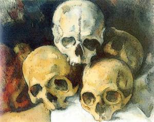 Pyramid Of Skulls Paul Cezanne Clip Art Download.