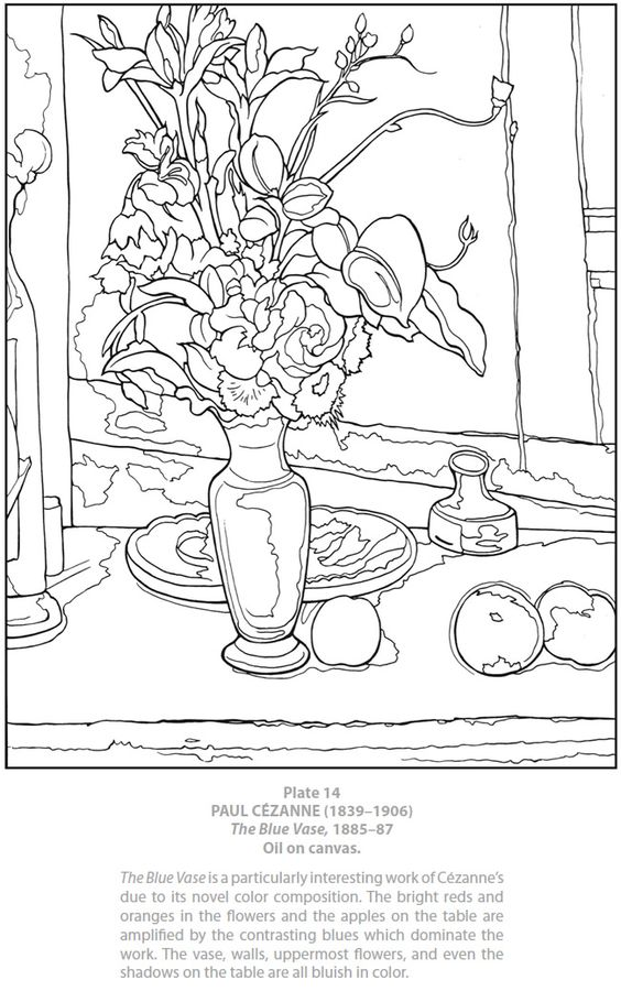 Dover Publications Dover Masterworks: Color Your Own Cezanne.