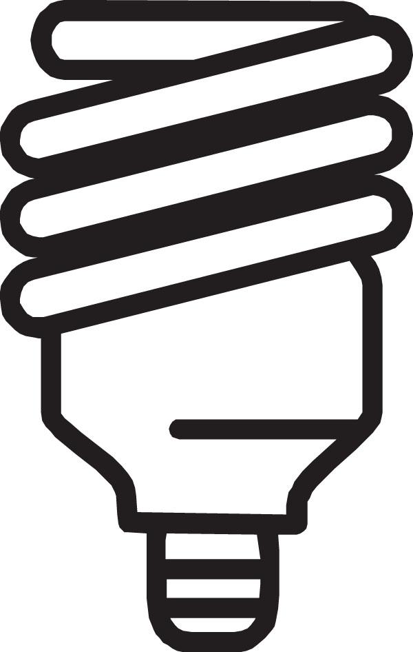 Cfl bulb clipart.