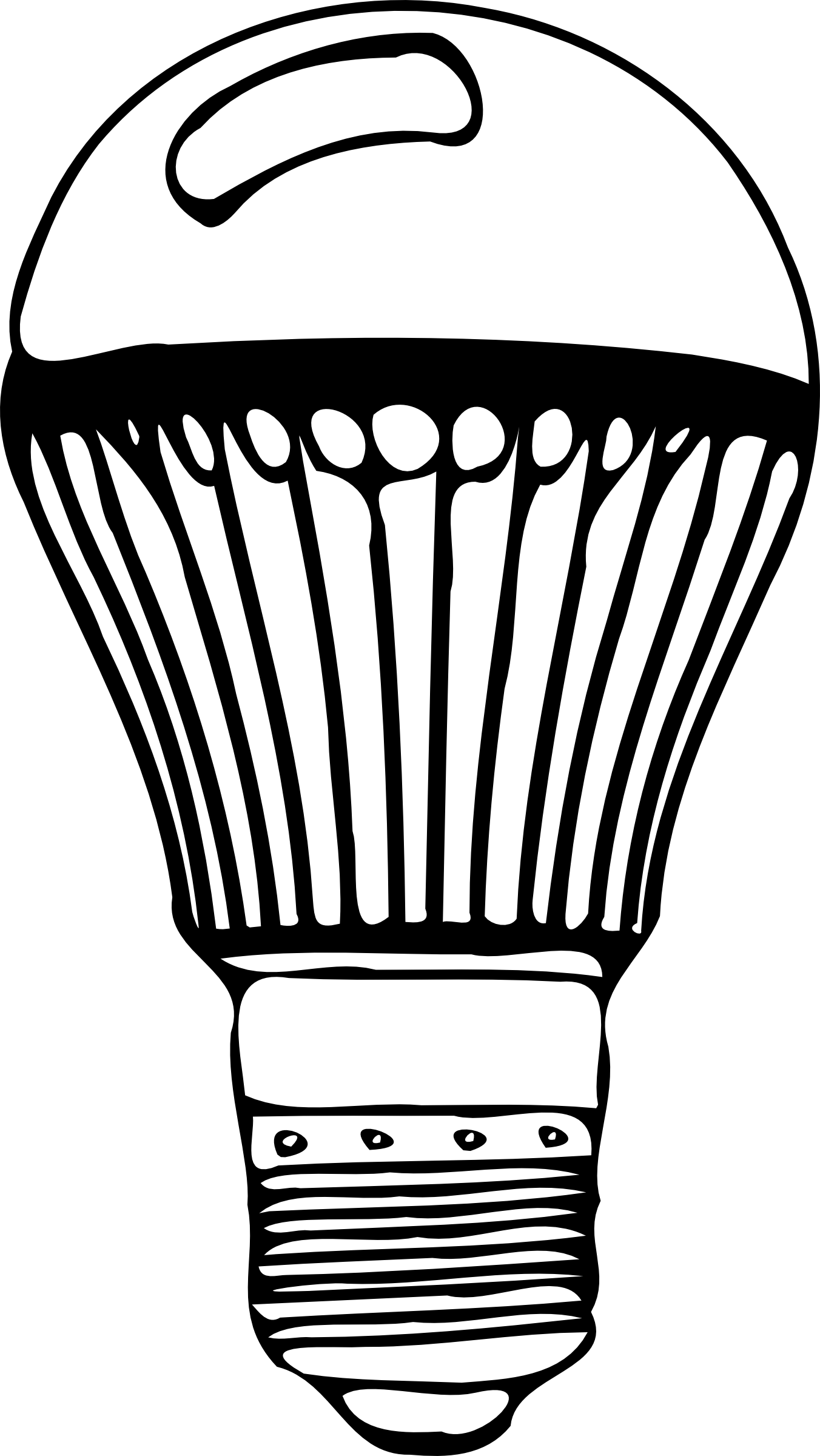 Clip Art CFL Light Bulbs.