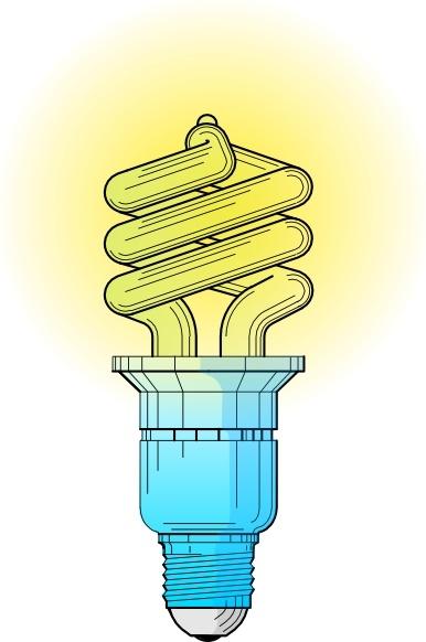 Compact Fluorescent Light Bulb clip art Free vector in Open.