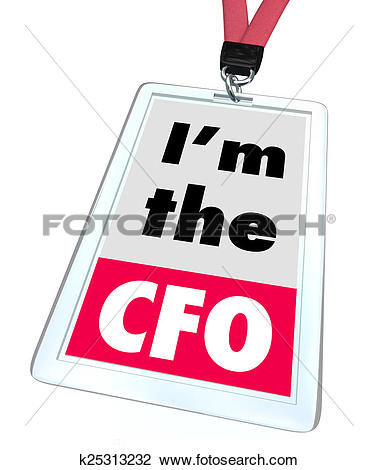 Clip Art of Im the CFO Chief Financial Officer Badge Job Role.