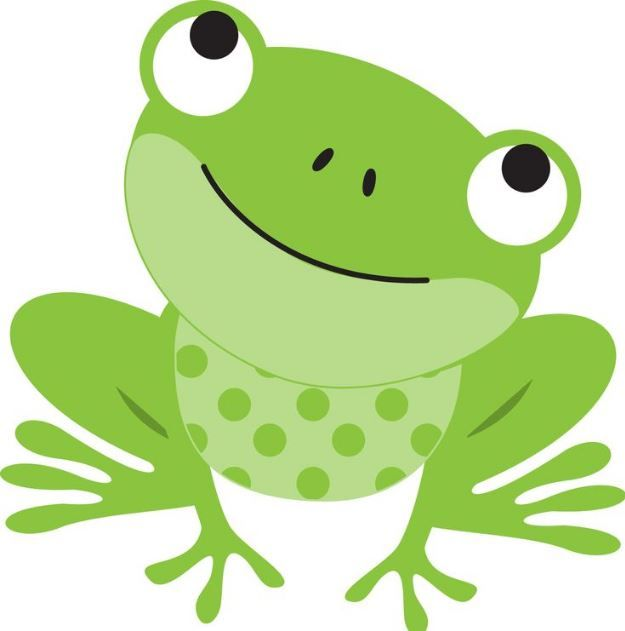 Cute frog clipart.
