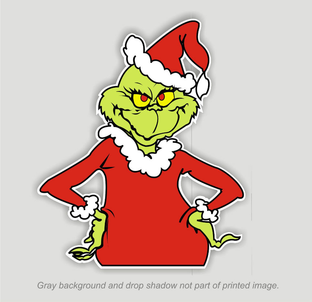 Grinch clipart on gray background free image.