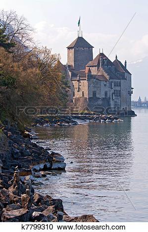 Stock Photography of Chillon Castle Switzerland k7799310.