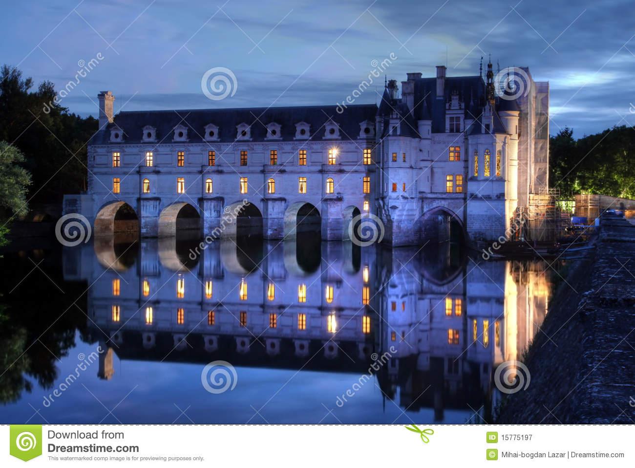 Chateau De Chenonceau, France Stock Images.