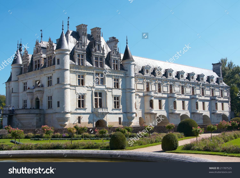 Chateau De Chenonceau, France, Chateaux De La Loire Stock Photo.