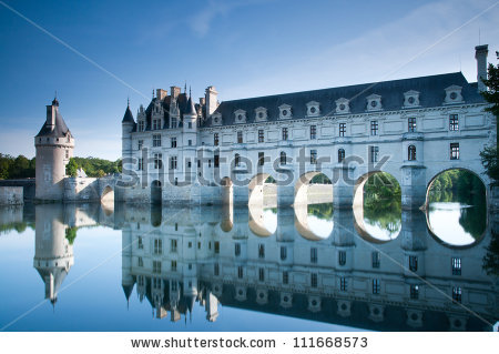 Chateau De Chenonceau Loire Valley France Stock Photo 111668573.