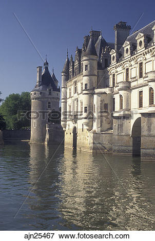 Picture of castle, Loire Valley, France, Chenonceau, Loire Castle.