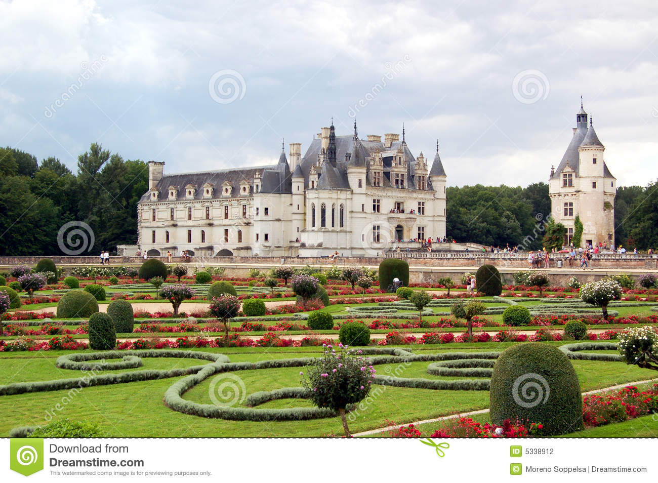 Chateau De Chenonceau, Loire Valley, France Stock Image.