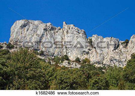 Stock Images of chateau de Peyrepertuse k1682486.