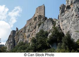 Photos de Peyrepertuse, cathar, château.