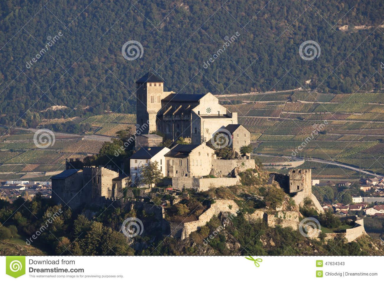 Sion Castle Stock Photo.