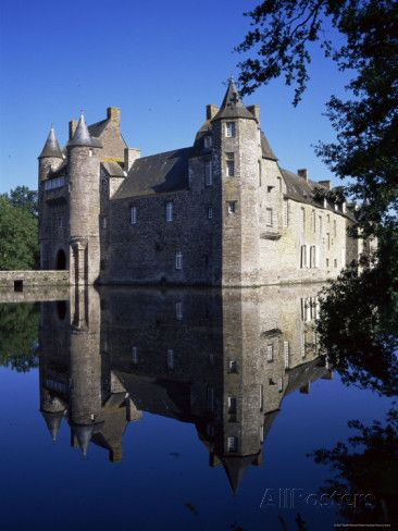 Chateau De Trecesson, Dating from the 15th Century, Near Paimpont.