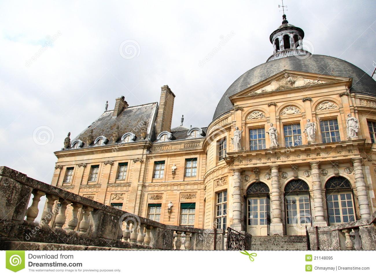 Vaux Le Vicomte Castle, France Royalty Free Stock Photo.