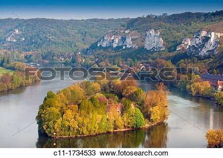 Stock Photo of france, normandy, les andelys, chateau, gaillard.
