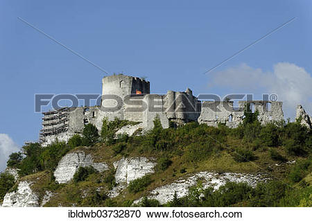 "Stock Photography of ""Chateau Gaillard medieval castle, built by."