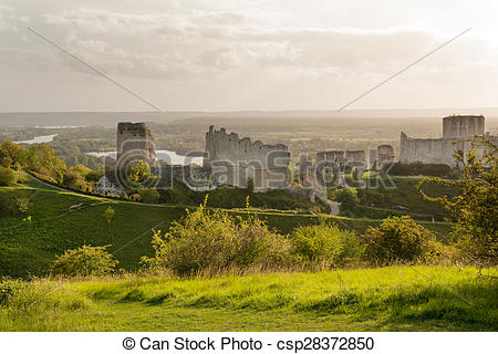 Stock Images of Chateau Gaillard, ruined famous castle of Richard.