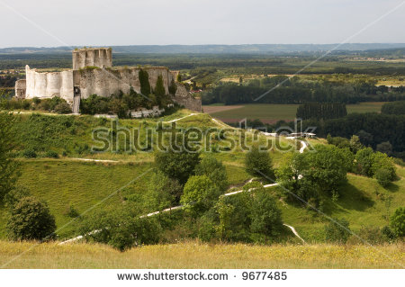 Chateau Gaillard Stock Photos, Royalty.