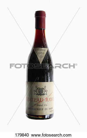 Stock Photography of Bottle of Châteauneuf.