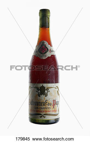 Stock Image of Bottle of Châteauneuf.