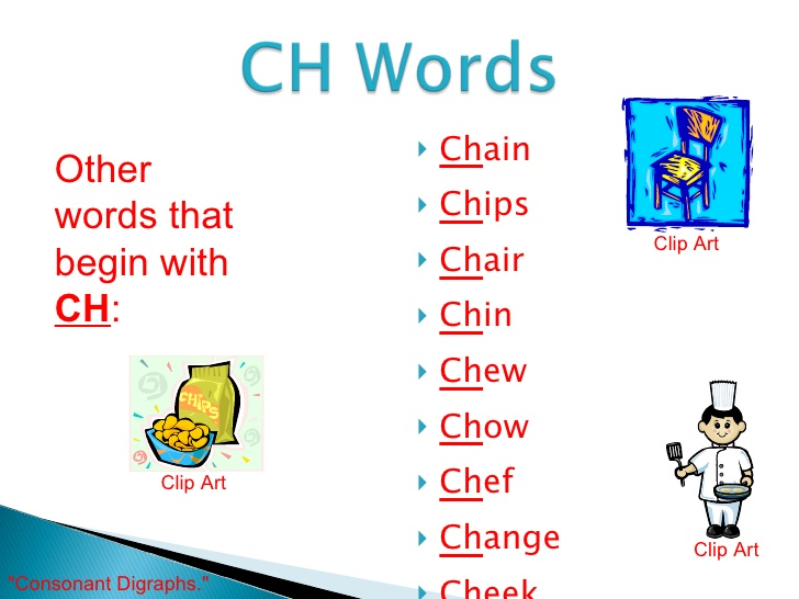 Ch words clipart.