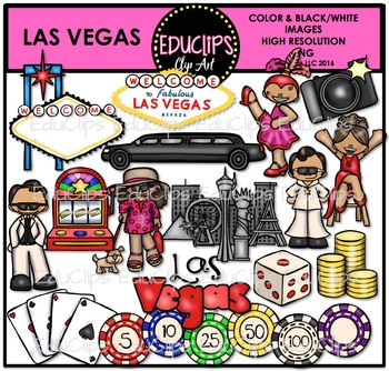 Las Vegas Clip Art Bundle {Educlips Clipart}.