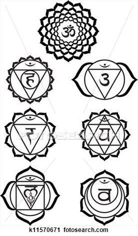 Seven chakras Clipart.