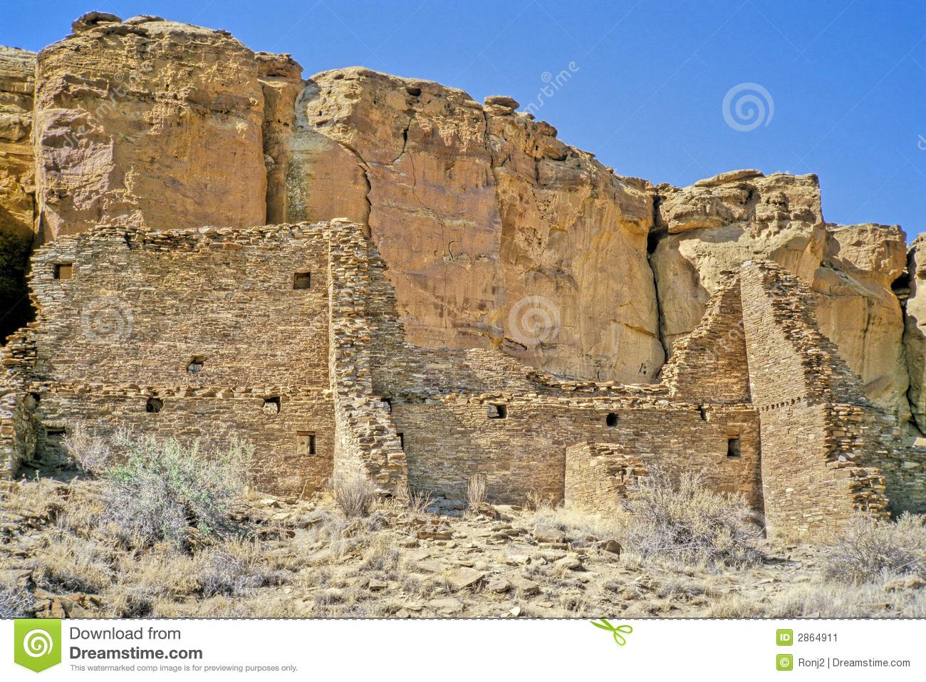 Chaco Canyon Ruins 2 Stock Image.