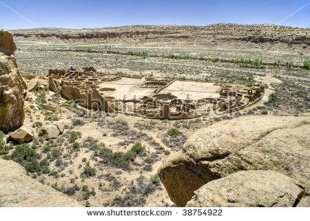 Chaco Canyon Stock Photos, Royalty.