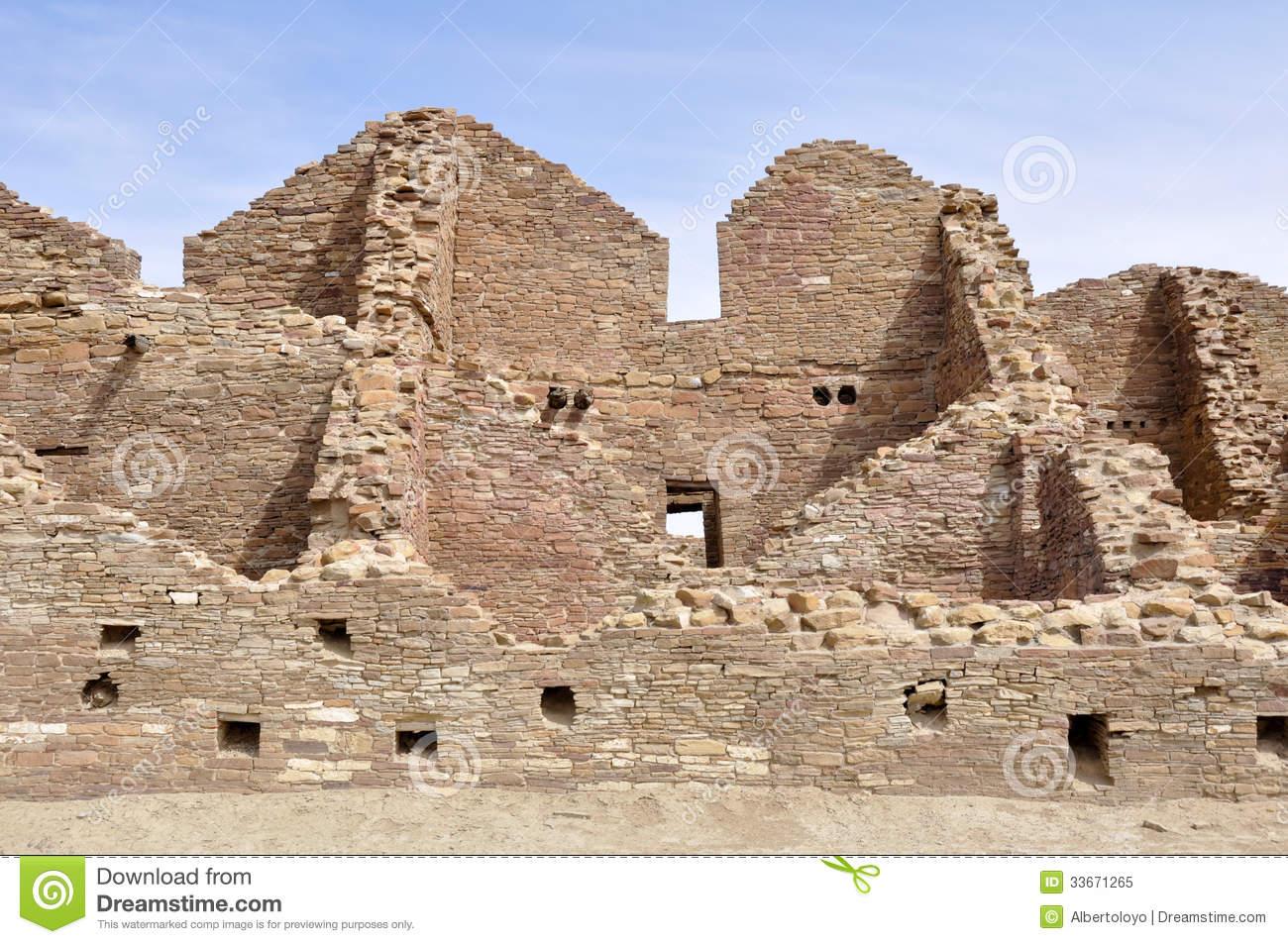 Pueblo Del Arroyo Ruins, Chaco Canyon, New Mexico (USA) Royalty.