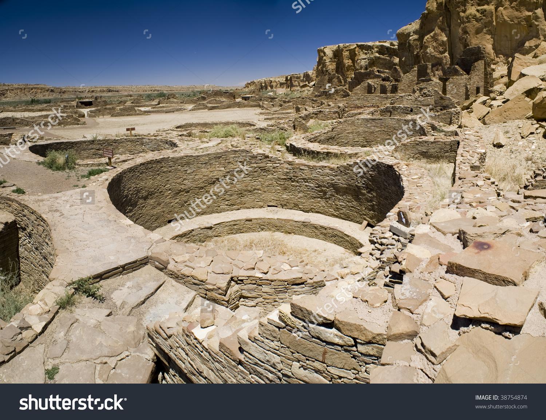 Ancient Ruins At Chaco Canyon, New Mexico Stock Photo 38754874.